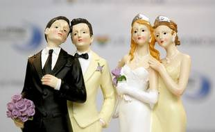 Illustration du mariage homosexuel.