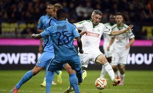 Fabien Lemoine, ici face à l'Inter Milan en octobre dernier, est ravi d'avoir participé à la Ligue Europa cette saison.