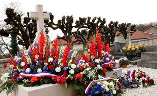 La tombe du Général de Gaulle à Colombey-les-Deux-Eglises en 2015.