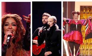 Eleni Foureira (Chypre), Madame Monsieur (France) et Netta Barzilai (Israël) figurent parmi les favoris de l'Eurovision 2018.