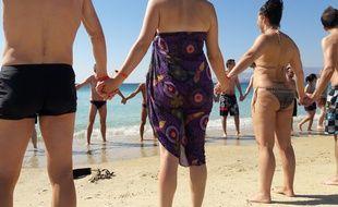 Vacances entre célibataires organisées par Meetic à Naxos (Grèce) le 1er octobre 2016.