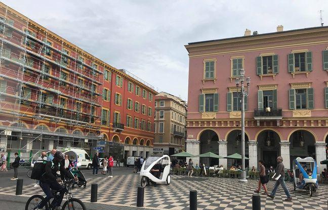 Les couleurs des façades de la place Masséna seront uniformisées.