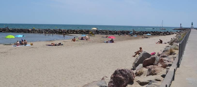 La plage, à Carnon, près de Montpellier.