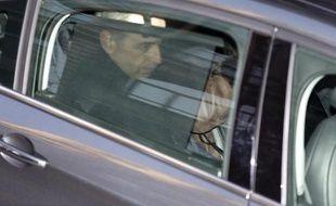 L'ancien patron de l'UMP Jean-François Copé à son arrivée au pôle financier le 3 février 2015 à Paris