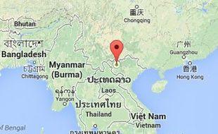 Google map de Hanoi, au Vietnam.