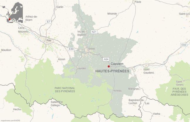 La commune de Capvern, dans les Hautes-Pyrénées.
