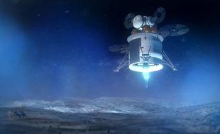 Image de synthèse de la bande-annonce de la mission Artemis de la Nasa, qui vise un retour sur la Lune en 2024.
