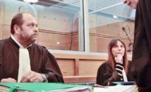 Mes Dupont-Moretti, Acquavia et Mattei, avocats d'Ange-Toussaint Federici, hier à Aix.