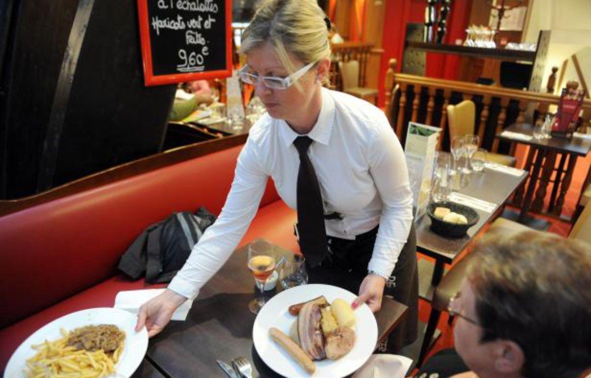 Illustration d'un déjeuner dans un restaurant français. – FRED TANNEAU / AFP