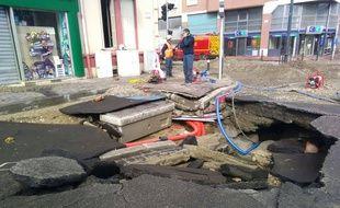 La rupture de canalisation dans le quartier toulousain de Saint-Michel a eu lieu le 10 mars 2018.