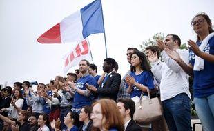Des militants à l'université d'été des Républicains à la Baule / AFP PHOTO / JEAN-SEBASTIEN EVRARD