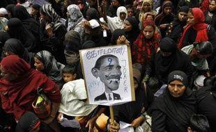 Une manifestation contre la diffusion du film américain anti-islam «L'innocence des musulmans», à Chennai, en Inde, le 15 septembre 2012.