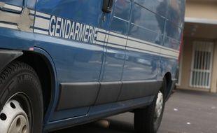 Strasbourg le 18 09 2014. Illustration véhicule de la gendarmerie devant le Palais de justice de Strasbourg.
