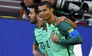 Cristiano Ronaldo célèbre son but face à la Russie, mercredi 21 juin.