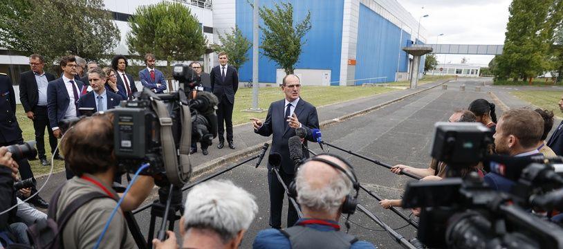 Le nouveau Premier ministre, Jean Castex, en déplacement.