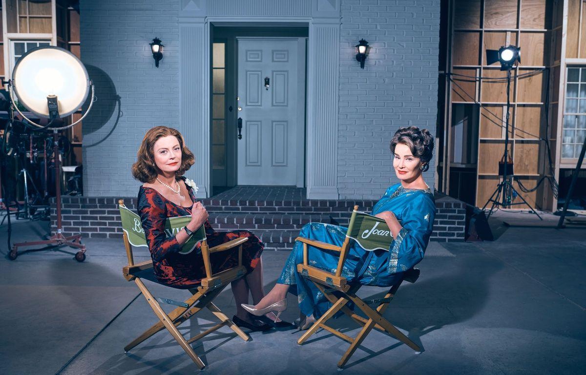 Susan Sarandon (Bette Davis) et Jessica Lange (Joan Crawford) dans la série « Feud : Bette and Joan ». – Fox/Canal+Séries