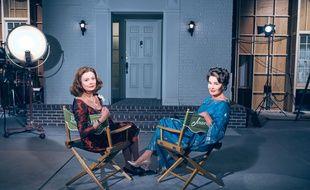 Susan Sarandon (Bette Davis) et Jessica Lange (Joan Crawford) dans la série « Feud : Bette and Joan ».