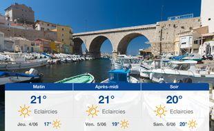 Météo Marseille: Prévisions du mercredi 3 juin 2020