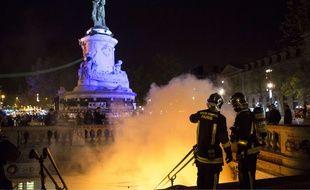 A Paris, la place de la République a été évacuée le 1er mai 2016 au soir.