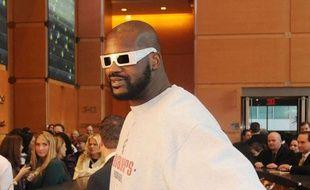 Le basketteur Shaquille O'Neal au Comcast Building de Philadelphie, le 17 décembre 2009.