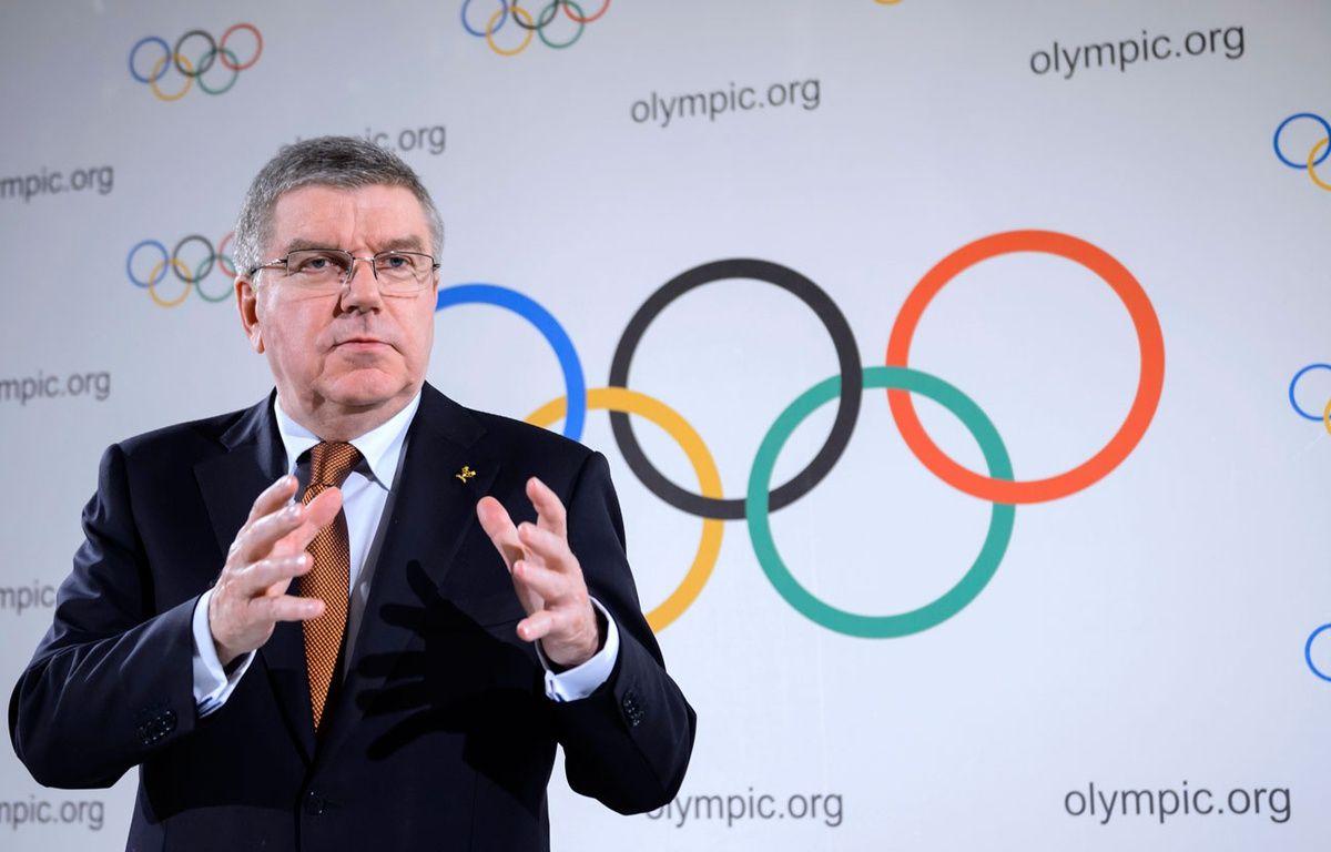 Le président du CIO Thomas Bach le 2 mars 2016. – FABRICE COFFRINI / AFP