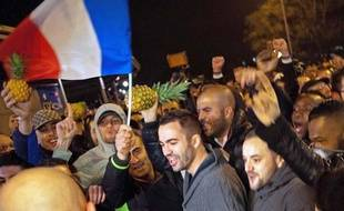 Des fans de Dieudonné le 9 janvier 2014 à Nantes.