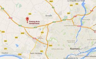 La gendarmerie de Sautron, à l'ouest de Nantes.