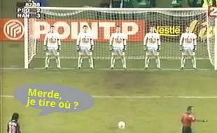 Voilà ce qu'il devait y avoir dans la tête de Ronaldinho au moment du penalty...