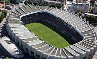 Vue aérienne du Parc des Princes, le stade du Paris-SG, le 14 juillet 2009.