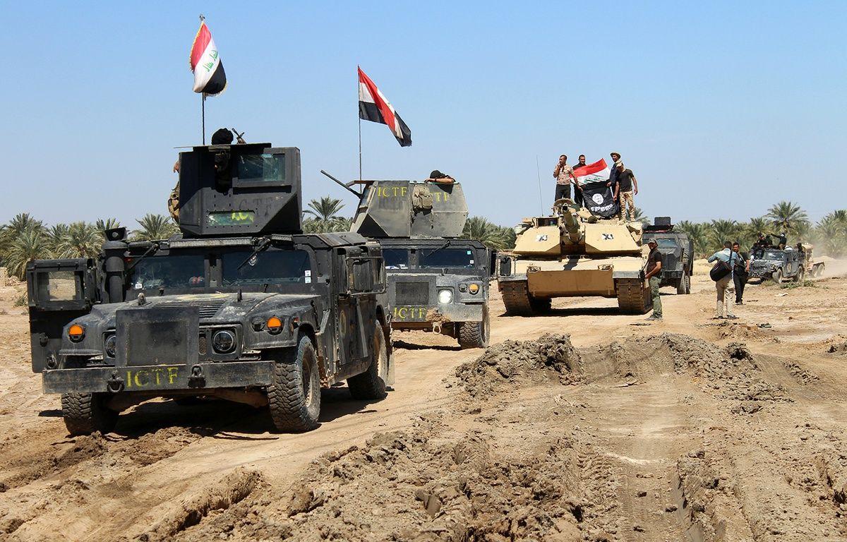 Les forces irakiennes à Hit, le 2 avril 2016. – MOADH AL-DULAIMI / AFP