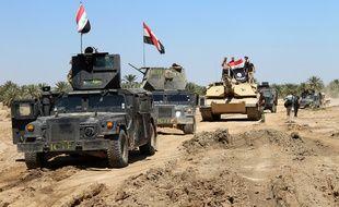 Les forces irakiennes à Hit, le 2 avril 2016.