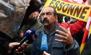 Phlippe Martinez, secrétaire général de la CGT, lors d'une manifestation contre la réforme des retraites, le 24 septembre 2019, à Paris.