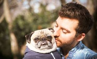 Un New-yorkais a fté la Saint-Valentin avec son chien.