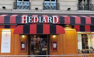 La boutique Hédiard, place de la Madeleine à Paris.