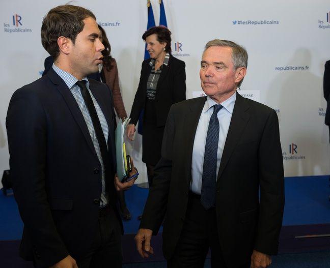 Lionel Moisy de Cala (à gauche) et Bernard Accoyer (à droite).