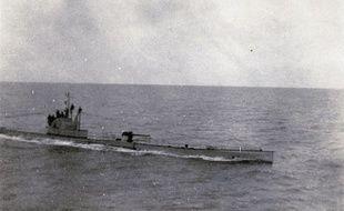 La photo d'un U-boat, provenant de l'Historial de la Grande Guerre de Péronne, dans la Somme