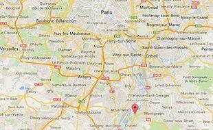 Capture d'écran de la ville de Vigneux-sur-Seine