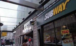 Un restaurant Subway à Londres en 2004.