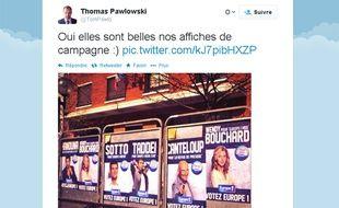 La campagne de publicité d'Europe 1 à l'approche des élections municipales 2014.
