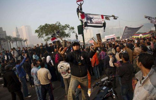 Des manifestants place Tahrir, au Caire, ce jeudi 24 novembre - Bernat Armangue/AP/SIPA