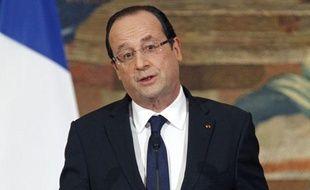 François Hollande lors de ses voeux aux parlementaires, le 16 janvier 2013, à Paris.