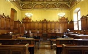 La chambre du palais de justice de Paris qui accueille le procès Chirac, le 2 septembre 2011.