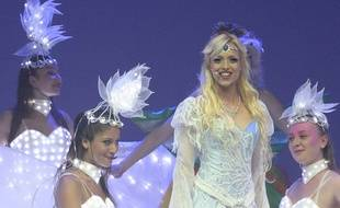Maryline Lecomte, dans le rôle de la Reine des neiges.