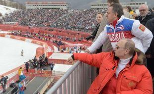 Vitali Moutko et Vladimir Poutine aux Jeux de Sotchi.