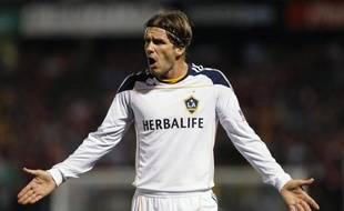 Le joueur des Los Angeles Galaxy, David Beckham, lors d'un match de la Ligue des champions de Concacaf contre Alajuelense, le 21 septembre 2011.