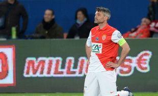 Le capitaine de Monaco Jérémy Toulalan lors du quart de finale de Coupe de France perdu contre le PSG, le 4 mars 2015.