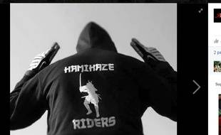 "Capture d'écran d'une photo postée sur Facebook par le club ""Kamikaze Riders"""