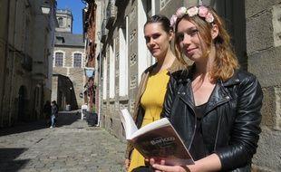 Ayla Saura (à gauche) et Solveig Touzé espèrent ouvrir leur librairie sur le mail début novembre.