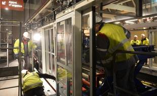 Le chantier d'aménagement des stations du métro lillois