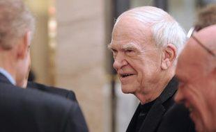 Milan Kundera le 30 novembre 2010, au 20e anniversaire de la revue«La règle du jeu»de Bernard-Henri Lévy.
